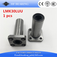LMK30LUU 30mm Inner Dia Square Flange Mount Linear Motion Ball Bearing
