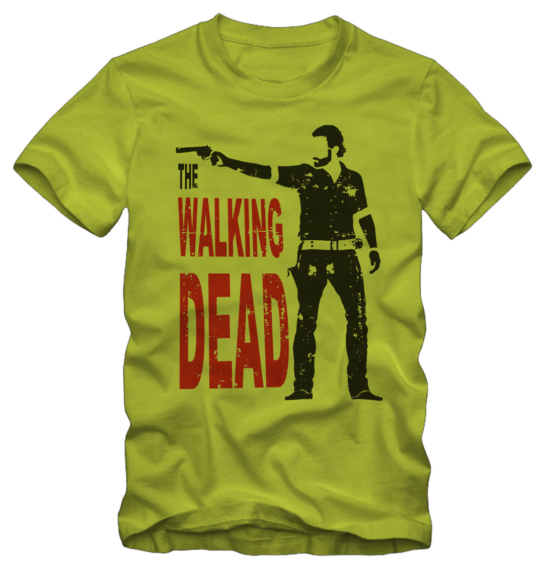 T shirt Maglietta The Walking Dead Rick Grimes Serie TV Harajuku Tops t shirt Fashion Classic Unique free shipping in T Shirts from Men 39 s Clothing