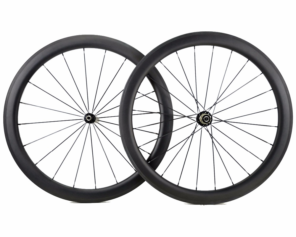 700C 50mm depth Road bike carbon wheels 25mm width bicycle clincher/Tubular carbon wheelset U-shape rim Customizable decals стоимость
