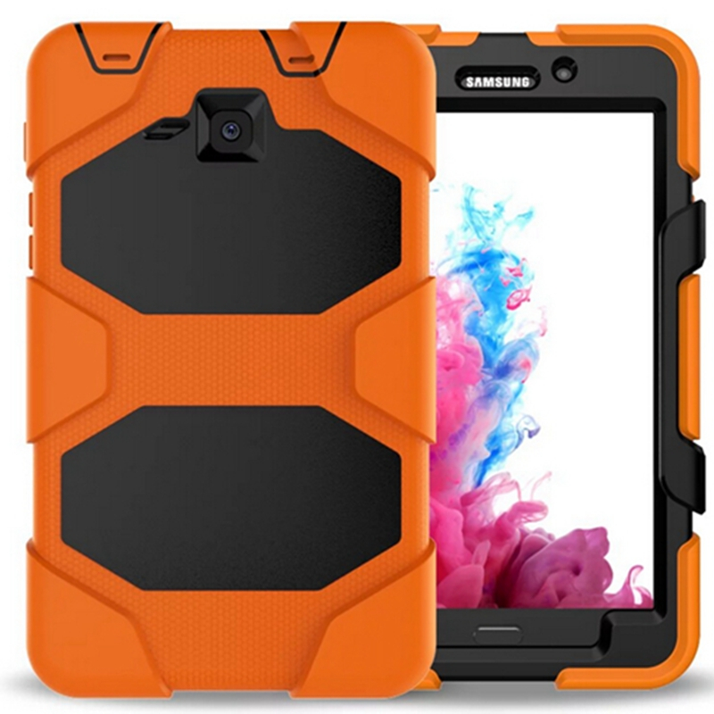 PC Silicone Hybrid Extreme Military Heavy Duty Shockproof Stand Hang For samsung galaxy tab A 7.0 T280 T285 Tablet Case+Stylus