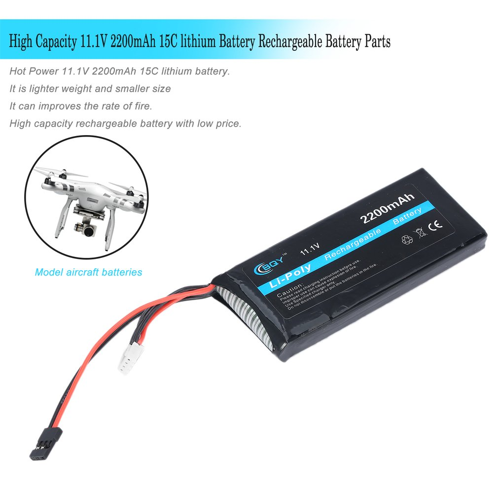 Hot! Parts & Accs Power 11.1V 2200mAh 15C lithium Battery Li-POLY Rechargeable Battery Discount New Hot! hot parts