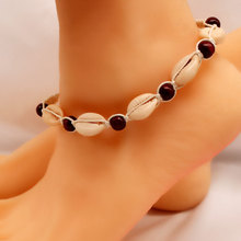 New Beach Rope Chain Shell Beads Bracelets for Women Fashion Hand Woven Anklet Bracelet Bohemian Jewelry