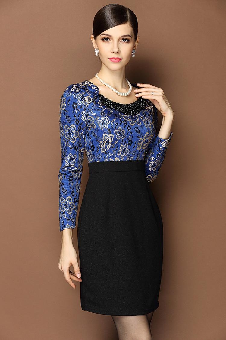 2014 Sexy Lace Embroidery Stitching Dress Short Big Yards -3591