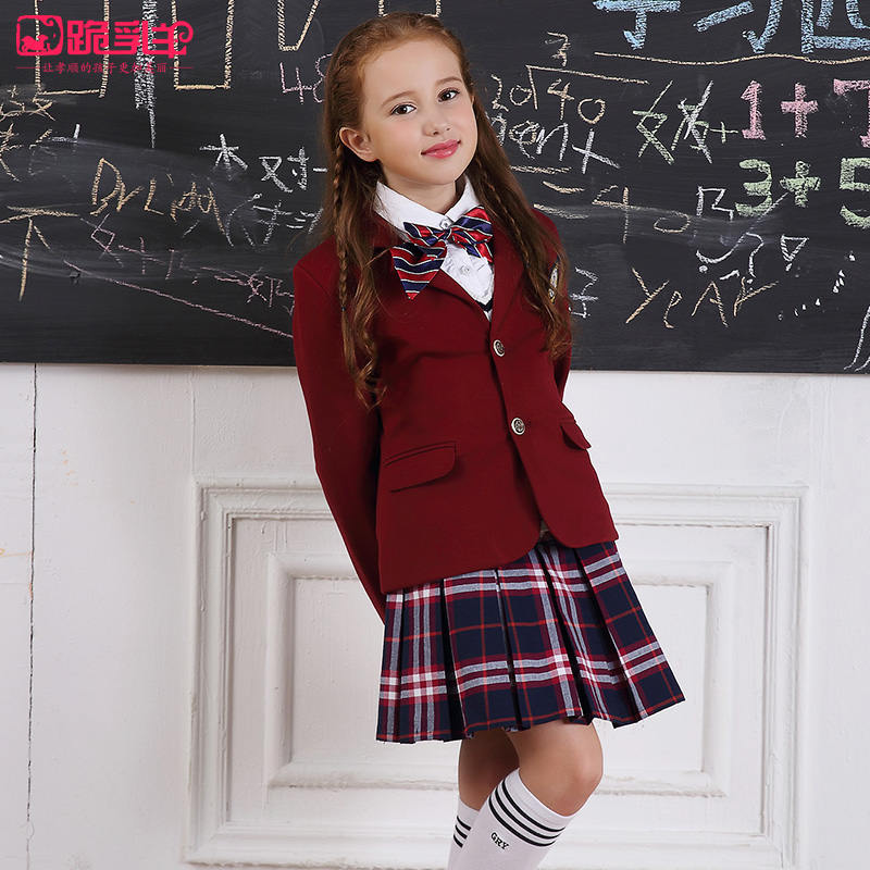 Autumn  Spring Girls School Uniforms Sets Secondary -4778