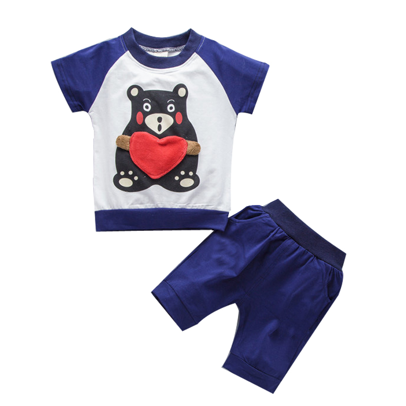 2018 Summer Sports Suits for Children Cartoon Tracksuits Boys Teenage Shorts + T Shirts Kids Clothes Unicorn Costumes