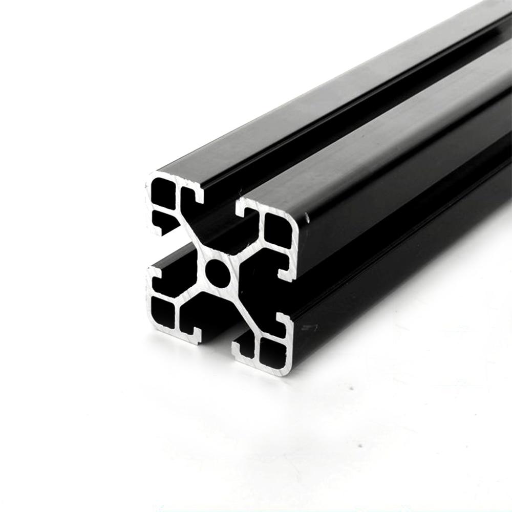1PC BLACK 4040 European Standard Anodized Aluminum Profile Extrusion 100-800mm Length Linear Rail For CNC 3D Printer CNC