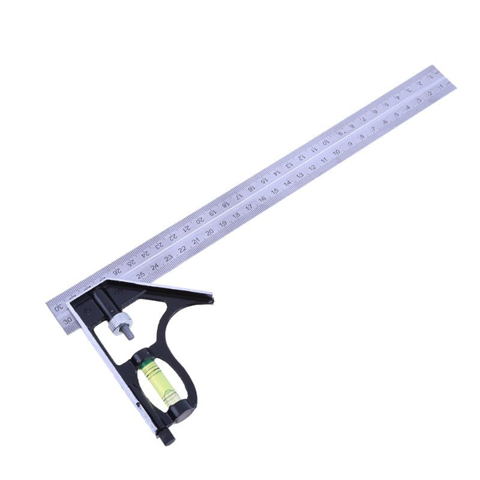 300mm(12) Right Angle Ruler Adjustable Engineer Combination Try Square Set Horizontal Ruler Angle for Woodworking Tools300mm(12) Right Angle Ruler Adjustable Engineer Combination Try Square Set Horizontal Ruler Angle for Woodworking Tools