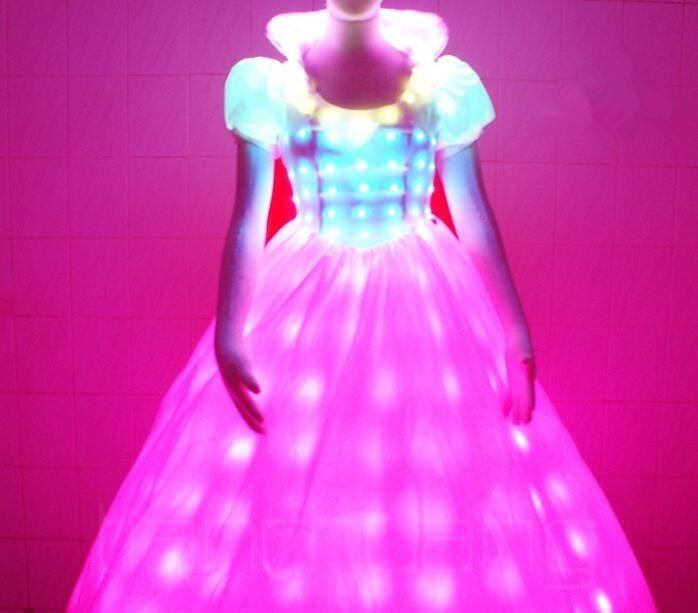 LED Bühne fluoreszierende Kostüme Anzug leuchtende Kleid zeigen - Partyartikel und Dekoration - Foto 5