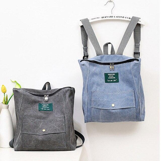 2016 Women's Denim Backpacks School Bags For Women Teenager Girls Shoulder Bag Square Large Travel Rucksack Bolsas Mochilas
