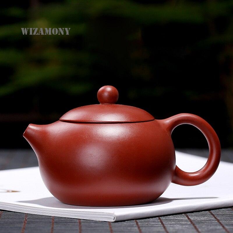Hot Sale!! 1pcs WIZAMONY Authentic Yixing Purple Clay Original Ore Da Hong Pao Xishi Teapot Purely Handmade Hot Sale!! 1pcs WIZAMONY Authentic Yixing Purple Clay Original Ore Da Hong Pao Xishi Teapot Purely Handmade