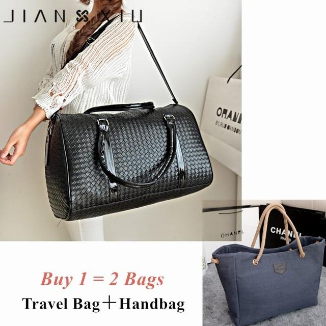 Two Bags Fashion Leather Pu Luxury Men Women Travel Bag Suitcase Designer High Quality Airport Handbags