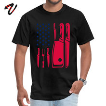 Patriotic Chef Knife Flag Tops & Tees Prevalent Round Neck Funny Reich Sleeve Pure New Zealand Men T Shirts Casual T-shirts