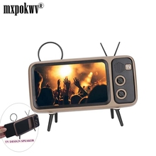 Portable Classic Bluetooth Speaker Retro Mini TV Audio Player Support TF Card FM Radio Aux Wireless HD Stereo Sound Box original xiaomi mi bluetooth speaker wireless stereo mini portable mp3 player pocket audio support handsfree tf card aux in