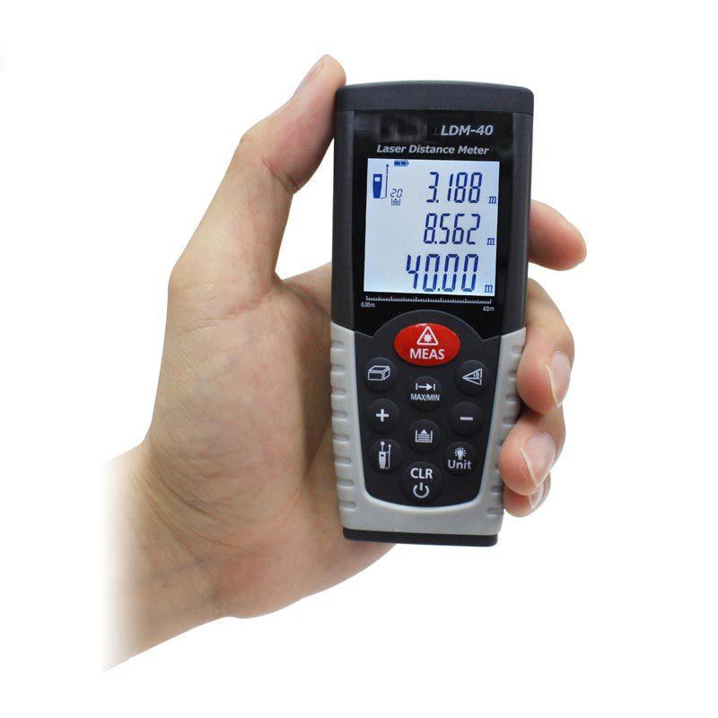 laser distance meter 0.05-40m(0.15ft -131ft ) rangefinder laser tape measure LDM-40 [randomtext category=