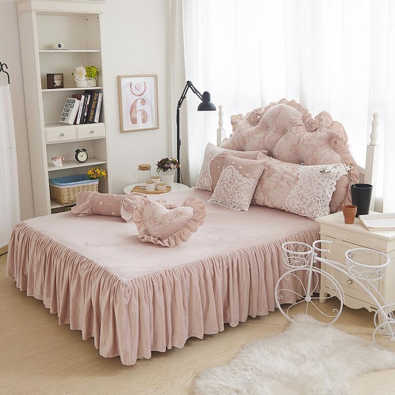 468 Stücke Prinzessin Stil Winter Bettwäsche Set Weißen Bett Rock