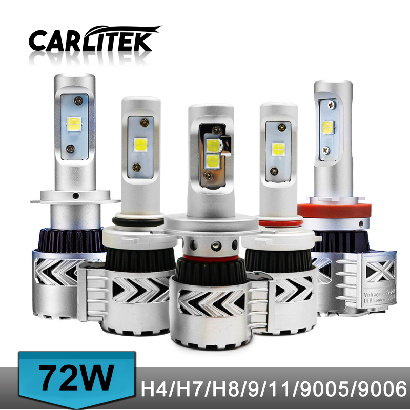 72W 12000lm H11 Car LED Headlight Kit H4 Led DRL Hi Lo Beam Headlamp Auto Led Light Car Lamp Led H4 Bulb Lightings Car Styling