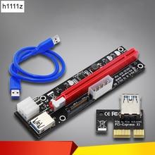 4pin 6pin SATA 전원 PCI Express 16X 슬롯 라이저 카드 Bitcoin BTC Miner Mining 용 USB 3.0 PCI E PCI Express 1x ~ 16x PCIE 라이저