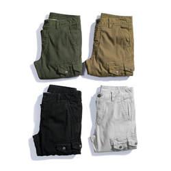 2019 военный Стиль брюки-карго Для мужчин камуфляж Повседневное черные свободные хлопчатобумажные брюки Мужской со множеством карманов