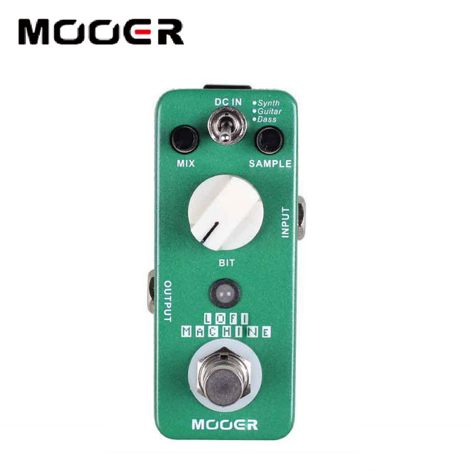 NEW Effect Pedal MOOER Lofi Machine Sample Reducing Pedal Full metal shell True bypass feee shipping new effect pedal mooer flex boost pedal full metal shell true bypass
