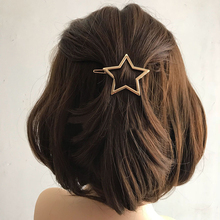 1 Pcs Fashion Women Hairpins Girls Hollow Out Pentagram Hair Clips Delicate Pins Ornaments Gift Jewelry Accessories