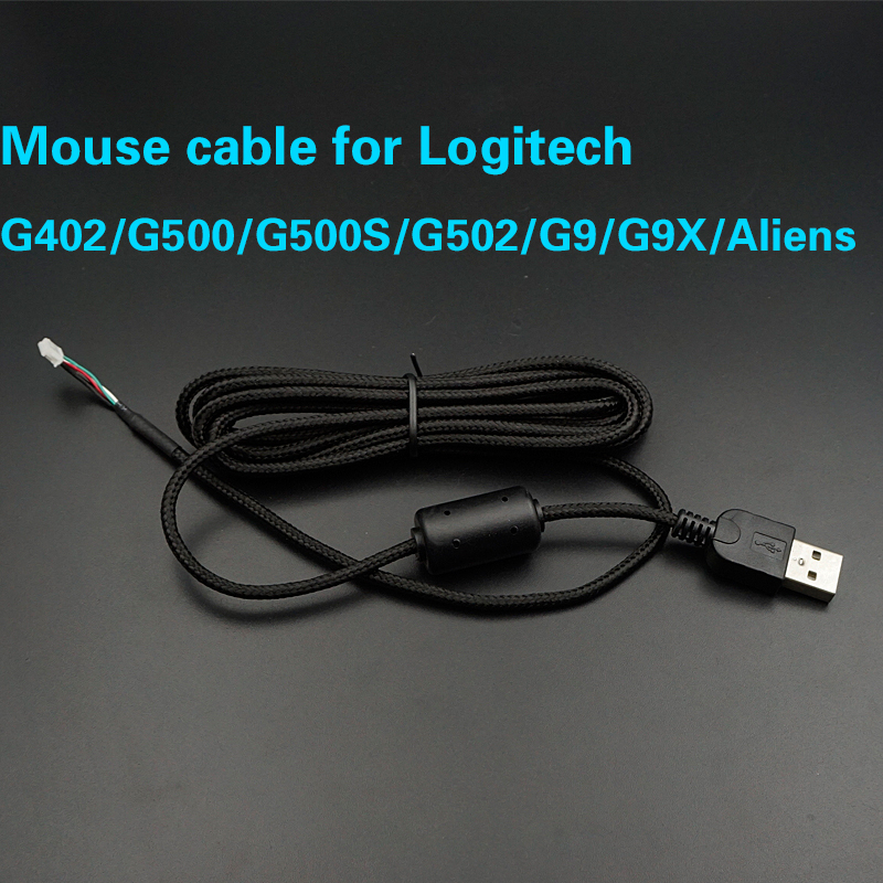 Mouse Cable For Logitech G402 G403 G5 G500 G500S G502 G9 G9X Aliens Brand USB  Mice Line Replacement Wire