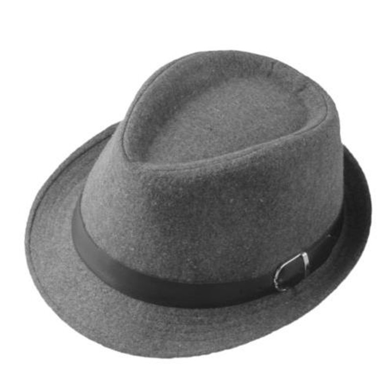 b897f40653a Kid s Wool Blend Brim Flat Top Fedora Hat Trilby Jazz Cap Spring Children  Boy Girl Fedoras Floppy Hats With Belt Vintage Chapeu-in Fedoras from  Apparel ...