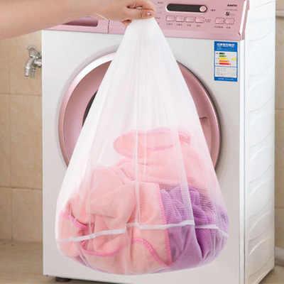 Malha Sacos de Lavagem Lavanderia Dobrável Delicados Lingerie Meias Sutiã Cueca Máquina de Lavar Roupas de Proteção Net 3 tamanho
