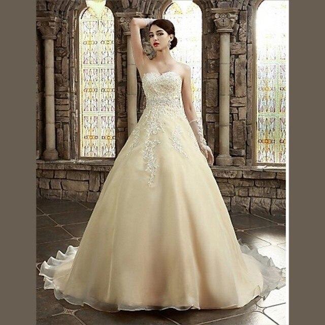 color beige de moda de encaje vestidos 2015 del organza del amor una