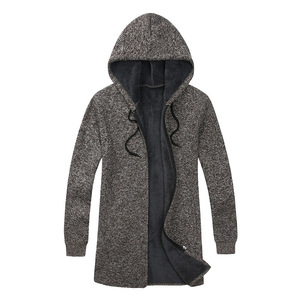 Image 5 - BOLUBAO Brand Men Cardigan Sweaters Coats Casual Slim Fit Plus Velvet Mens Sweaters Winter New Male Hooded Knitting Sweaters