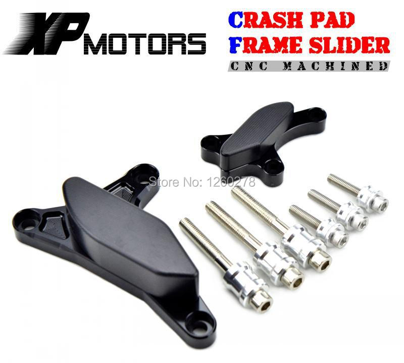 Black CNC Engine Case Slider Crash Pads Protector For Yamaha R1 YZF-R1 2007-2008