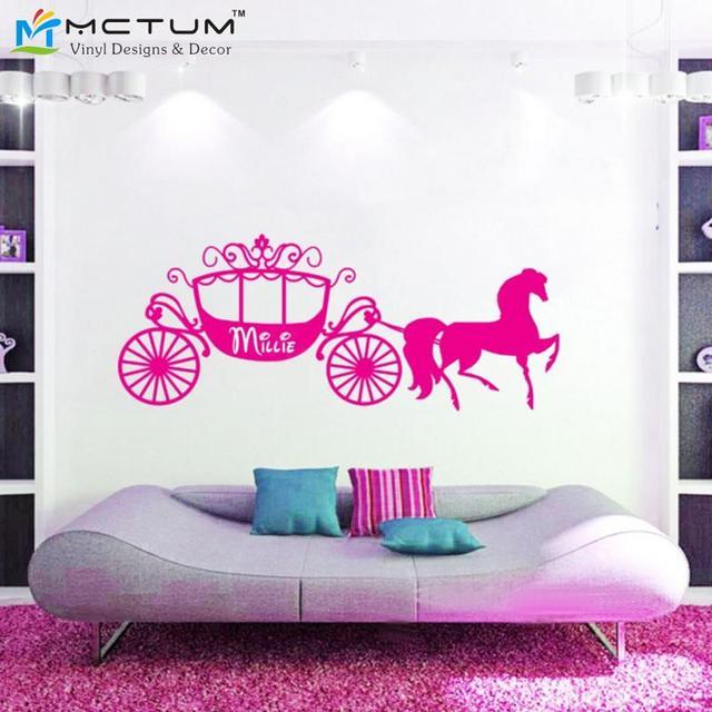 Name Wall Art aliexpress : buy new 2017 princess cinderella horse carriage