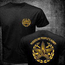 2019 Fashion Double Side New Josip Broz Tito Yugoslavia Yugoslav PeopleS Army Jna T-Shirt Unisex Tee