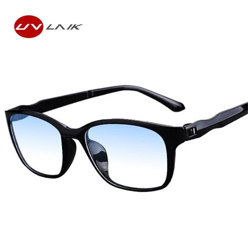 UVLAIK Fashion Anti blue rays Reading Glasses Men Women High Quality TR90 Material Reading Eyeglasses Prescription +1.0 +4.0 1
