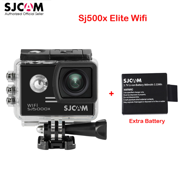"Extra Battery, 2.0"" 4K Original SJCAM Sj5000 Series SJ5000X Elite WiFi NTK96660 GYRO Sports Action Camera Sj 5000X Car Mini DVR"