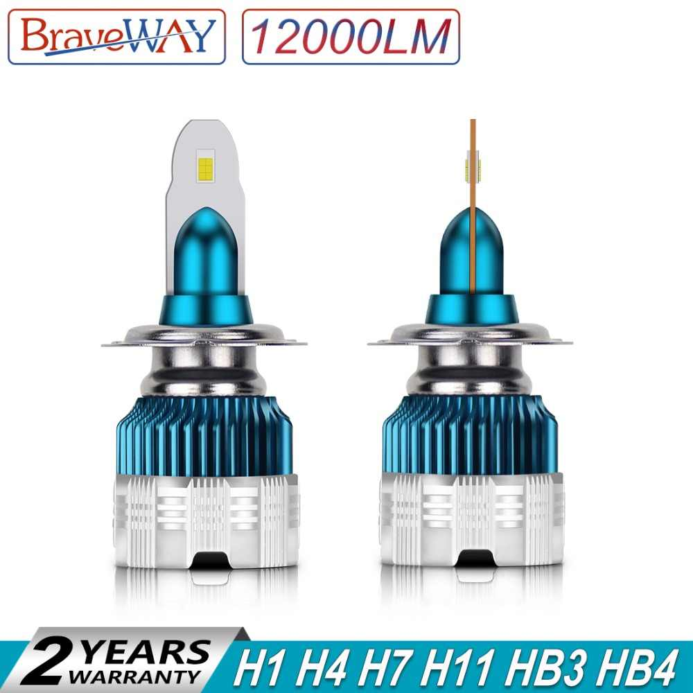 BraveWay 2019 New Arrival Mini Size 100W 12000LM Car Headlight Auto H7 LED Bulbs H4 H8 H9 HB3 HB4 Fog Lights LED H11 H1 Ice Lamp