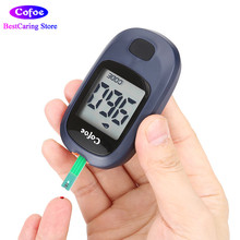 Cofoe Yice Medical Glucometer Blood Glucose Monitor Meter med Test Strips & Lancets Needles Sugar Diabetes Testing Equipment