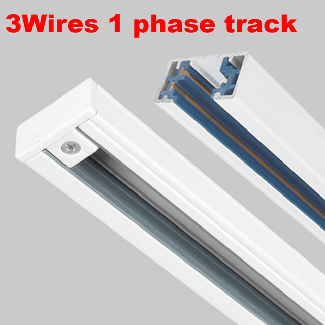 Light track led light rail aluminum tracks 1 phase circuit 3 wires light track led light rail aluminum tracks 1 phase circuit 3 wires track light accessories mozeypictures Image collections