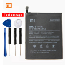 Original Xiaomi BM34 Mi Note Pro Phone battery For 4GB RAM 3010mAh Lithium Polymer Battery