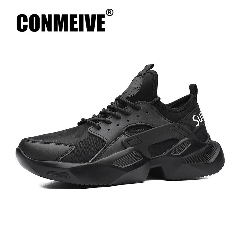 Breathable Stretch Fabric Man Shoes Non-slip Wear Resistant Male Designer Sneakers Fashion Light Lace-up Men's Casual Shoes