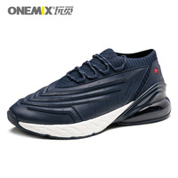ONEMIX Men Running Shoes 95 Leather Upper Air Cushioning Soft Midsole Sneakers Casual Outdoor Shoes Max 12.5