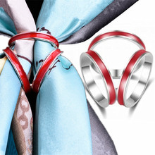 New Fashion Woman Jewelry Accessories Tricyclic Scarves Brooch Silk Scarf Clip Shawl Buckle Holder Gift Bijoux  Broche
