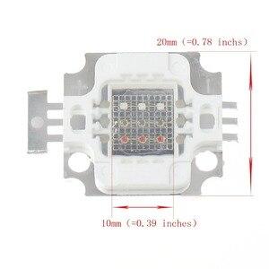 Image 4 - 1ชิ้น/ล็อตใหม่10วัตต์RGBพลังงานที่สูงนำแสงโมดูลโคมไฟหลอดไฟชิปSMD DC 9 11โวลต์สีแดง/สีเขียว/สีฟ้าสำหรับfloodlightนำแสง