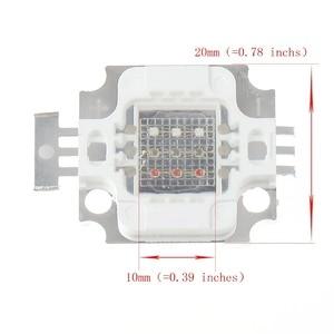 Image 4 - 1 Cái/lốc New 10 Wát RGB High Power LED Module ÁNH SÁNG Đèn Bulb SMD Chip DC 9 11 V RED/GREEN/BLUE Cho đèn pha Led Light