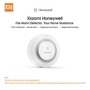 Image 3 - Oryginalny Xiaomi Mijia Honeywell detektor alarmu pożarowego Alarm dźwiękowy i wizualny praca z bramą czujnik dymu inteligentny pilot domowy
