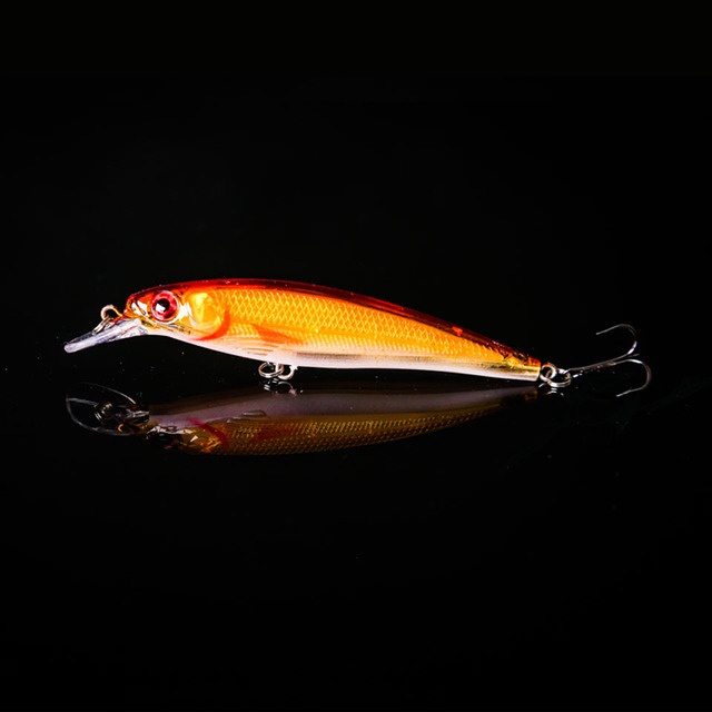 WALK FISH 1PCS Minnow Fishing Lure Laser Hard Artificial Bait 3D Eyes 11cm 13.1g Fishing Wobblers Crankbait Minnows Pesca 0-2M