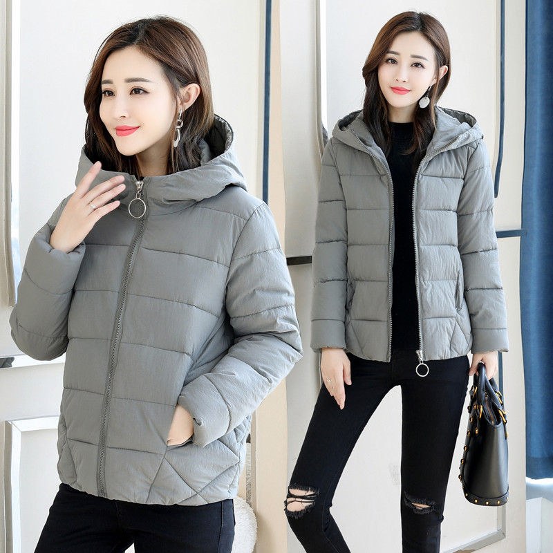 Beieuces Autumn 2019 New Short Parkas Basic Jackets Female Women Winter Hooded Coats Cotton Jacket Plus Size 4XL