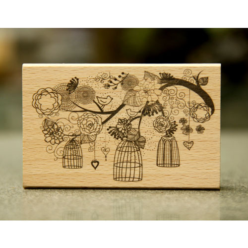 DIY flower and bird rubber wooden stamps for carimbo stempel postcard or bookmark scrapbooking stamp 9*6*2cm free shipping from 2012 ea1420 1ms new 0626 coastal bird stamps