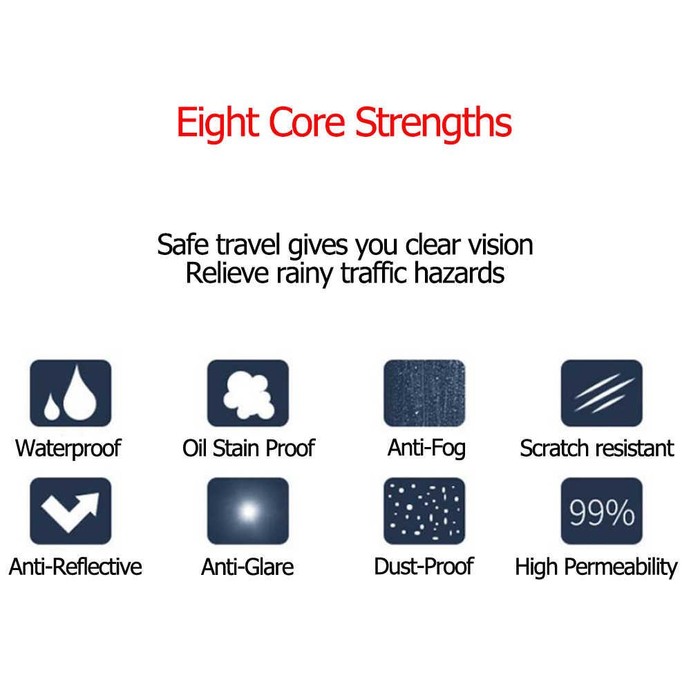 Pegatina antiniebla para coche, película transparente espejo retrovisor para ventana de coche, película protectora para coche, resistente al agua, 2 unidades por juego