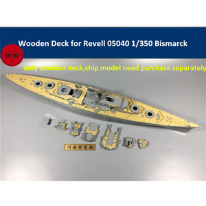 Image 1 - 1/350 Scale Wooden Deck for Revell 05040 Bismarck Battleship Model Kit CY350034