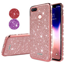 Glitter Diamond Bling Soft TPU Case Cover on sfor Xiaomi Mi 8 Lite A1 A2 8 se Redmi Note 5 6 6A Shiny Phone Coque Slim Fundas
